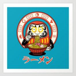 Daruma Zen Ramen Art Print