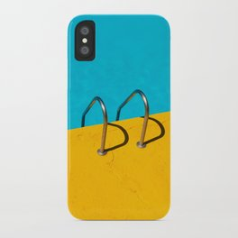 yellow blue pool iPhone Case
