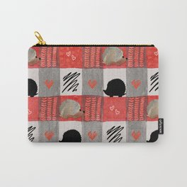 Hedgie Plaid Carry-All Pouch