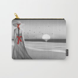 The lady at the sea Carry-All Pouch