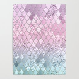 Mermaid Glitter Scales #2 #shiny #decor #art #society6 Poster