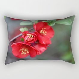 Chaenomeles  - JUSTART © Rectangular Pillow