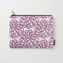dahlia: purple floral pattern Carry-All Pouch