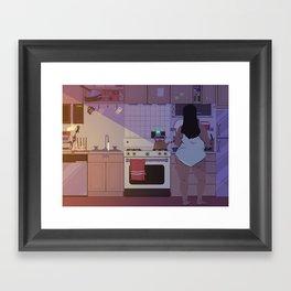 Breakfast Music Framed Art Print