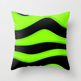 Hot Wavy E Throw Pillow