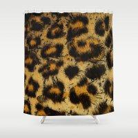 cheetah Shower Curtains featuring Cheetah by Some_Designs