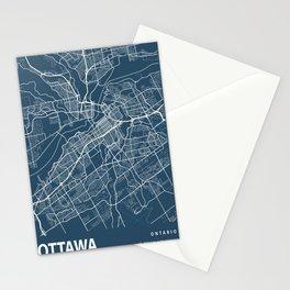 Ottawa Blueprint Street Map, Ottawa Colour Map Prints Stationery Cards