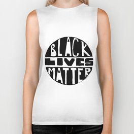 Black Lives Matter Filled Biker Tank