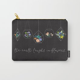 The Earth Laughs In Flowers. Carry-All Pouch