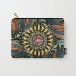 Peeping in, artistic floral design Carry-All Pouch