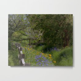 Sprig Blooms at Georgeson Botanical Gardens Metal Print
