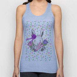 Easter Bunny And Tulips Unisex Tank Top