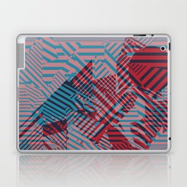 Dazzle Camo #02 - Blue & Red Laptop & iPad Skin