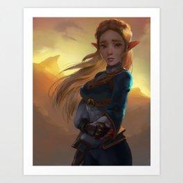 Princess of hyrule Art Print