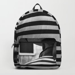 Venice black and white street photography Backpack