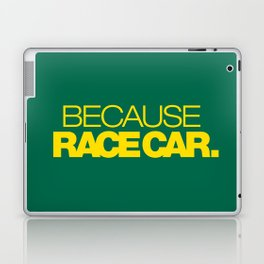 BECAUSE RACE CAR v5 HQvector Laptop & iPad Skin
