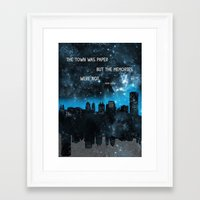 paper towns Framed Art Prints featuring Paper Towns John Green  by denise