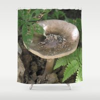 mushroom Shower Curtains featuring Mushroom by Kelsey Adams