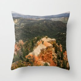 Piracy Point in Bryce Canyon National Park Throw Pillow