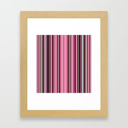 Grey-pink stripes Framed Art Print