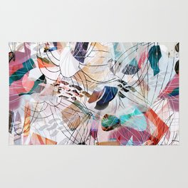 Abstract colourful collage Rug