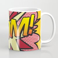 comic book Mugs featuring Comic Book ZOOM! by Thisisnotme