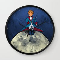 the little prince Wall Clocks featuring Little Prince by Anais.Lalovi