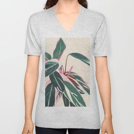 Stromanthe Sanquinea Unisex V-Neck