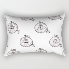 Donut Ride My Bicycle Rectangular Pillow