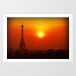 Red Paris Art Print