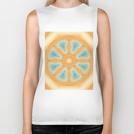 Sea Beach Summer Kaleidoscope Abstract Pattern Biker Tank