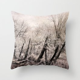 Pink Frost Throw Pillow