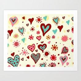 HEART--DRAW Art Print
