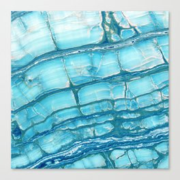 Blue onyx marble Canvas Print