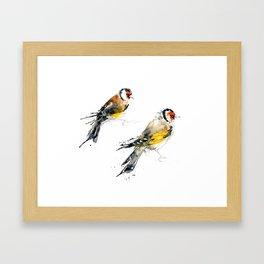 British Birds - Goldfinches Framed Art Print