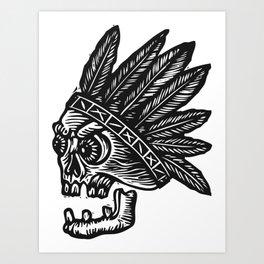 Chief Broken Tooth Art Print