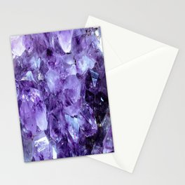 Amethyst Crystals Stationery Cards