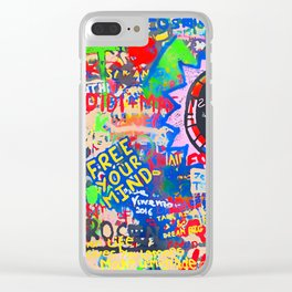 In the street No5, Messages Clear iPhone Case