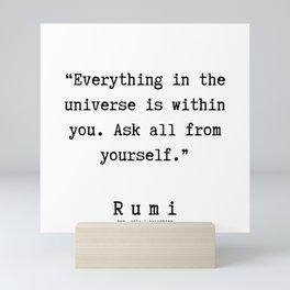 28 | Rumi Quotes  | 190921 Mini Art Print