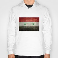 arab Hoodies featuring The Syrian national flag - vintage version (may PEACE prevail) by LonestarDesigns2020 is Modern Home Decor