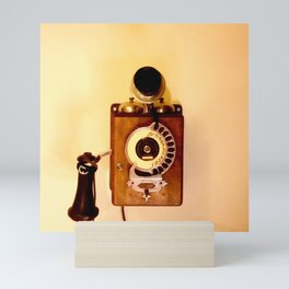 ANTIQUE WALL TELEPHONE Mini Art Print