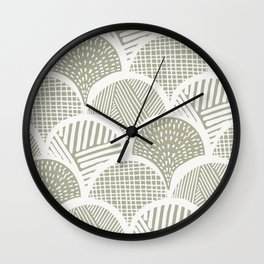 Sketched Stone Clamshells Wall Clock