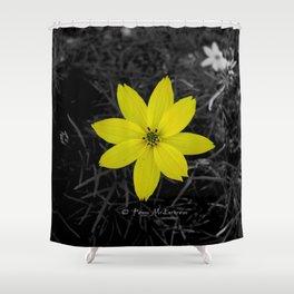 Yellow Flower - Colour Splash Shower Curtain