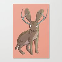 jackalope Canvas Prints featuring Jackalope by Floipoid