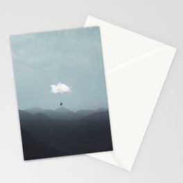 cloud  gliding Stationery Cards