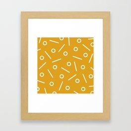 Fun Minimal Mustard Framed Art Print