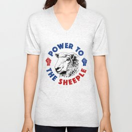 Power To The Sheeple Unisex V-Neck