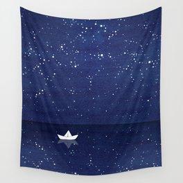 Zen sailing, ocean, stars Wall Tapestry