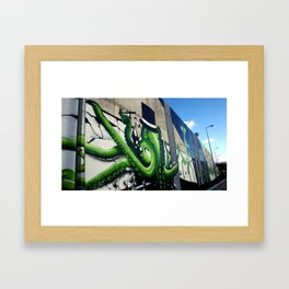 """Green Octopus"" Framed Art Print"