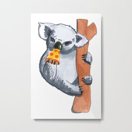 koala eating pizza Metal Print
